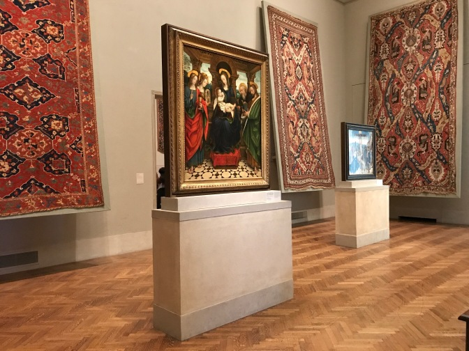 Italian Renaissance paintings and Tapestries.