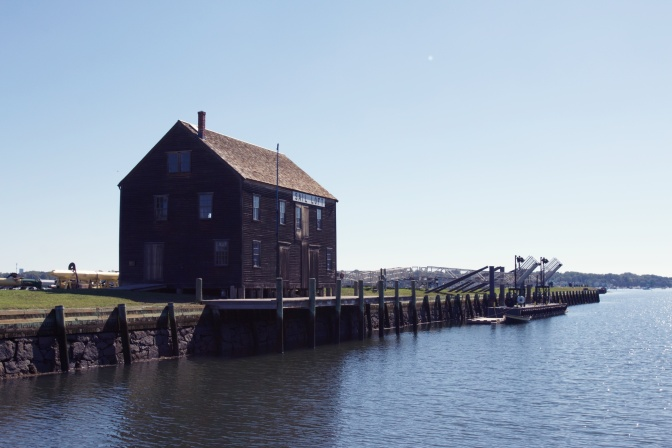 Central Wharf, with building on it, in Salem.
