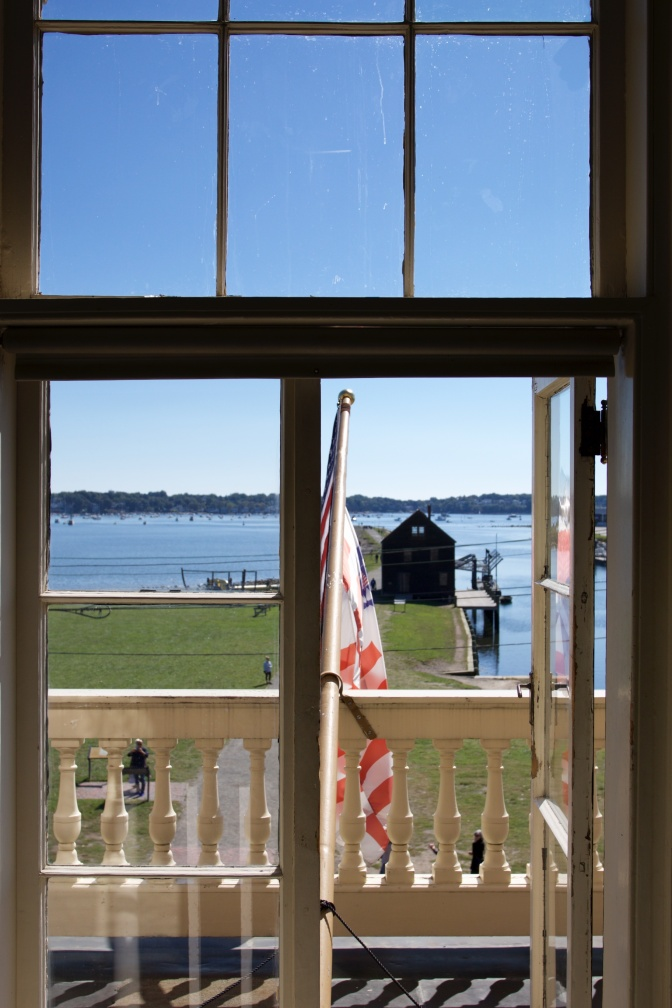 View from the second floor of the Custom House.