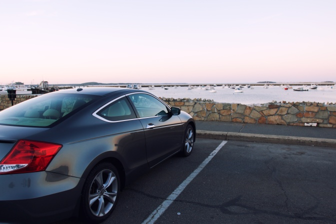 2012 Honda Accord, parked in front of Plymouth Harbor.
