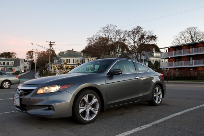 2012 Honda Accord coupe parked on the street in Plymouth.