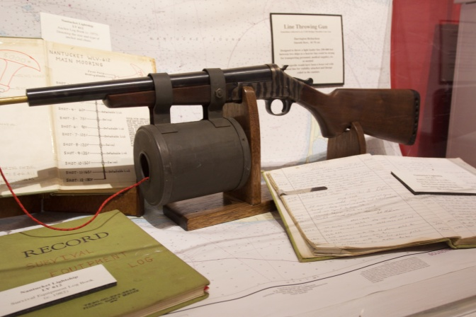 Display of a line throwing gun.