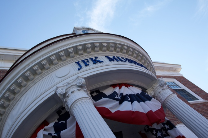 Entrance to the JFK Museum in Hyannis.