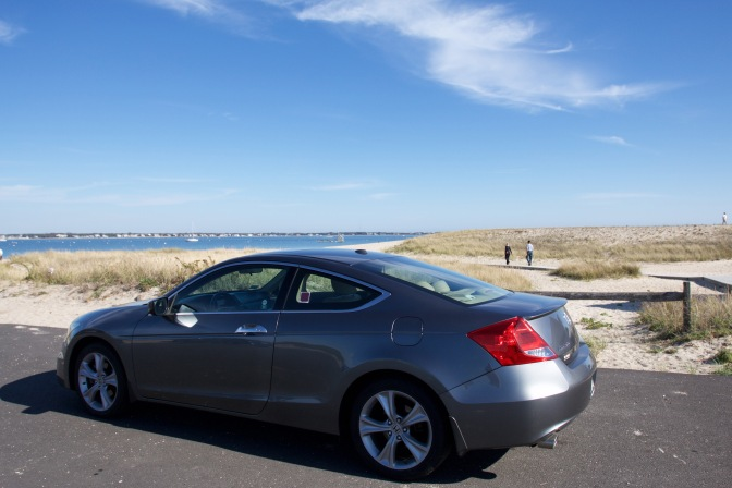 2012 Honda Accord, parked in front of the beach.