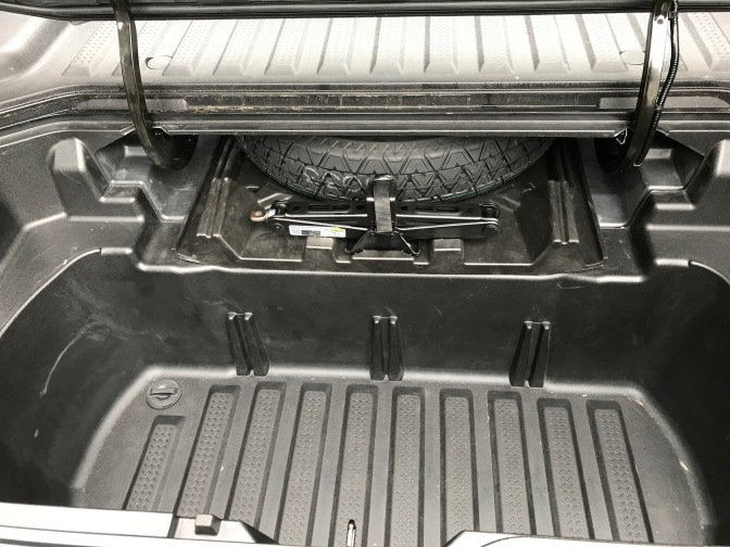 Cooler in trunk bed.