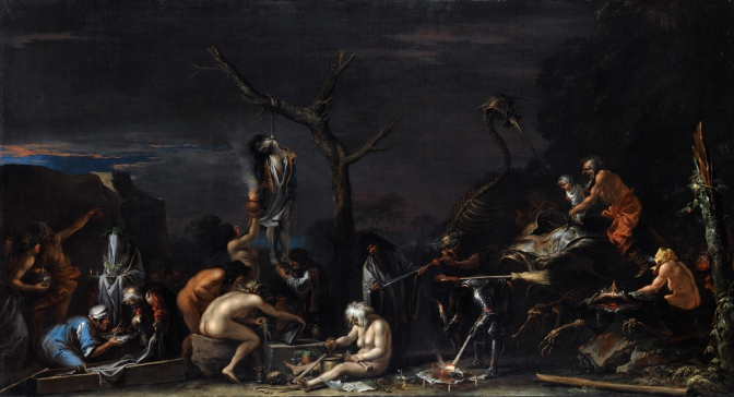"Painting ""Witches at Their Incantations."""