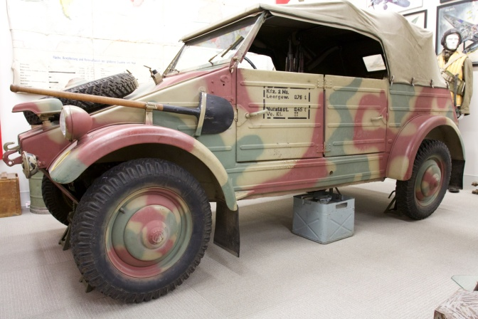 Volkswagen Kubelwagen on display.
