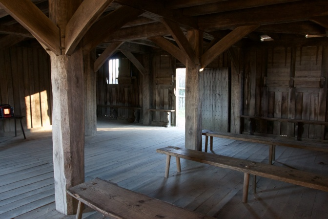 Interior of the Fort/Meeting House.