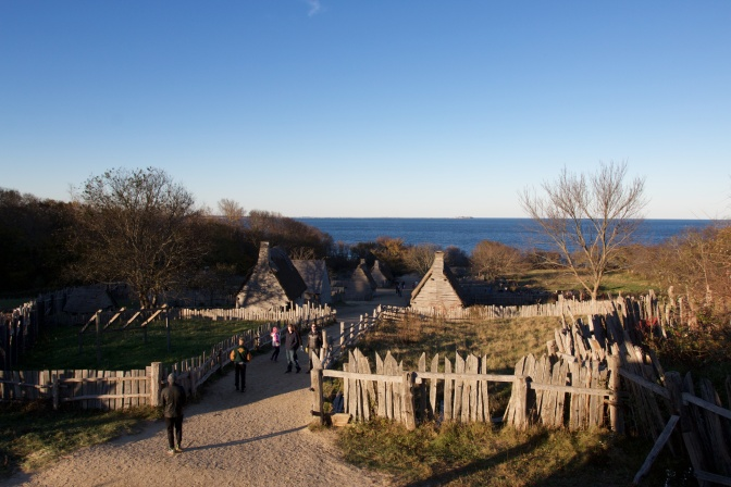 View of the Village and Atlantic Ocean from the top of the Fort/Meetinghouse.