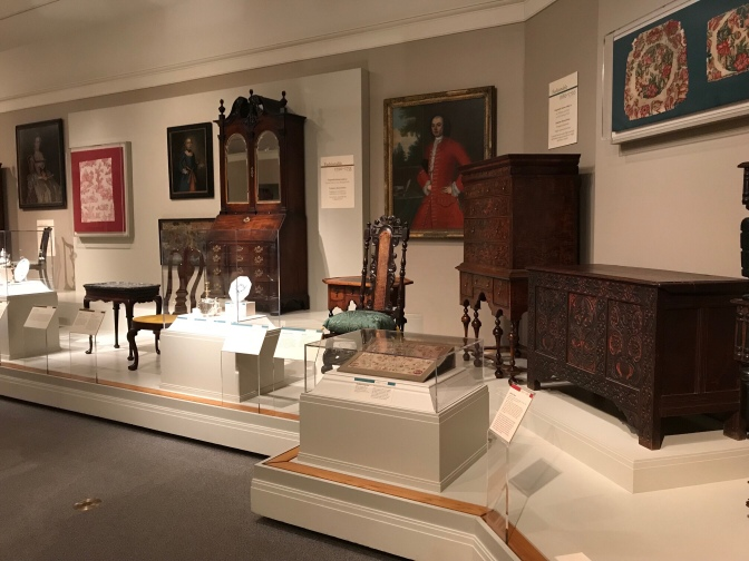 Exhibition of American furniture in the Galleries.