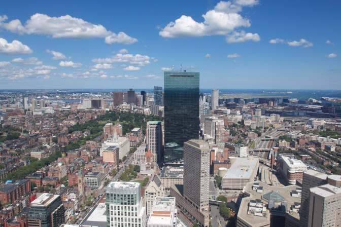 View of Boston from the Skyline Observatory.