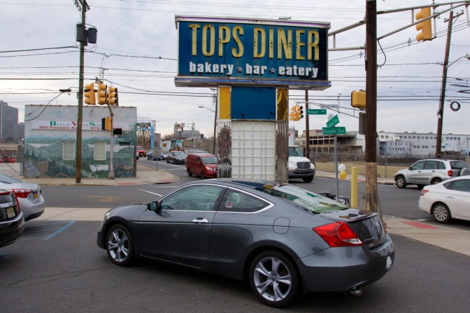 2012 Honda Accord in front of Tops Diner sign.