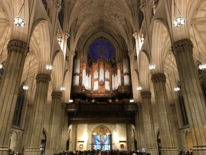 Interior of St. Patrick's Cathedral.
