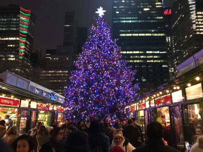 Christmas Market at Bryant Park.
