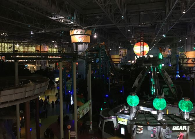 Mall of America amusement park.