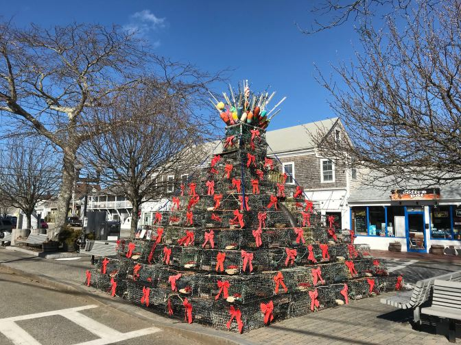 Christmas Tree constructed from Lobster Traps.