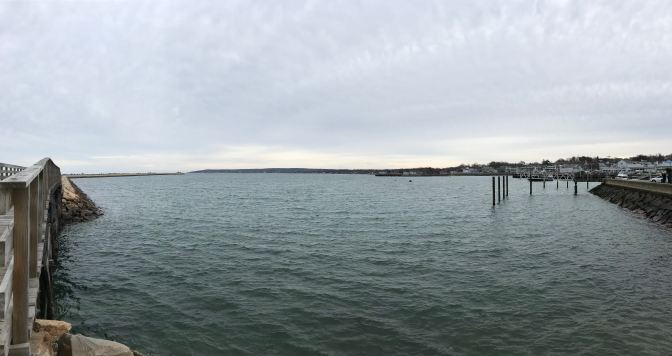 Plymouth Harbor panorama.