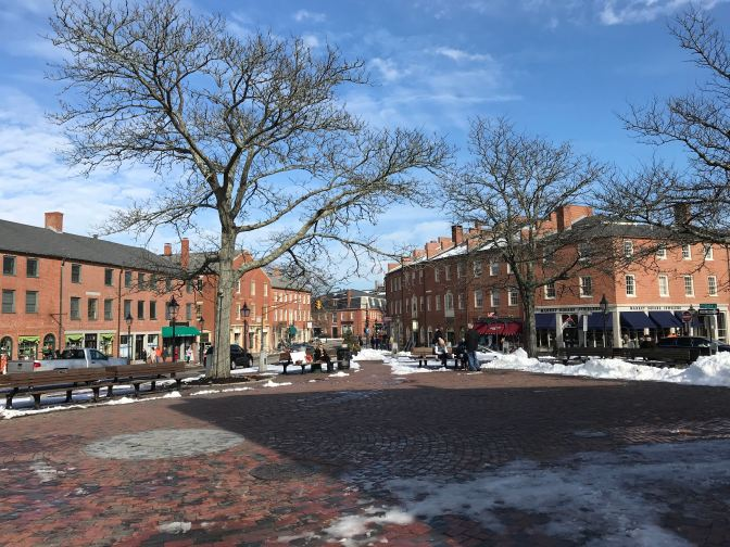 Picture of the town square of Newburyport.