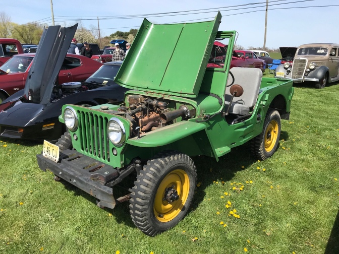 1946 Jeep in green.