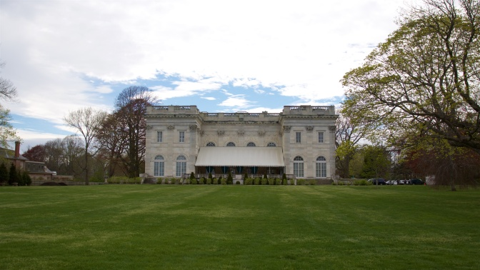 Rear view of the mansion.