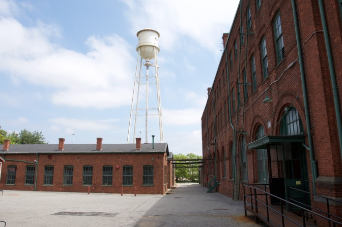 Photo of buildings in the laboratory complex.