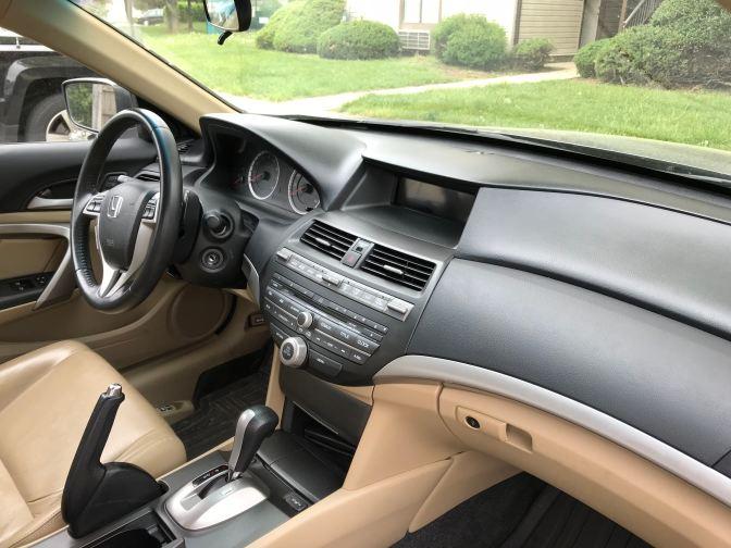 Interior of 2012 Honda Accord.