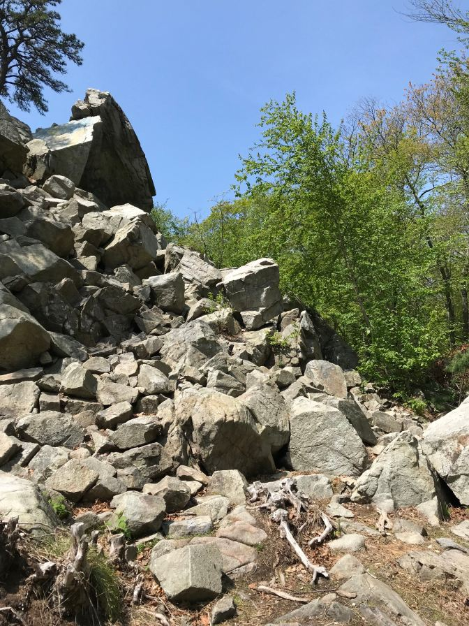 Rock formation at Freetown State Forest.