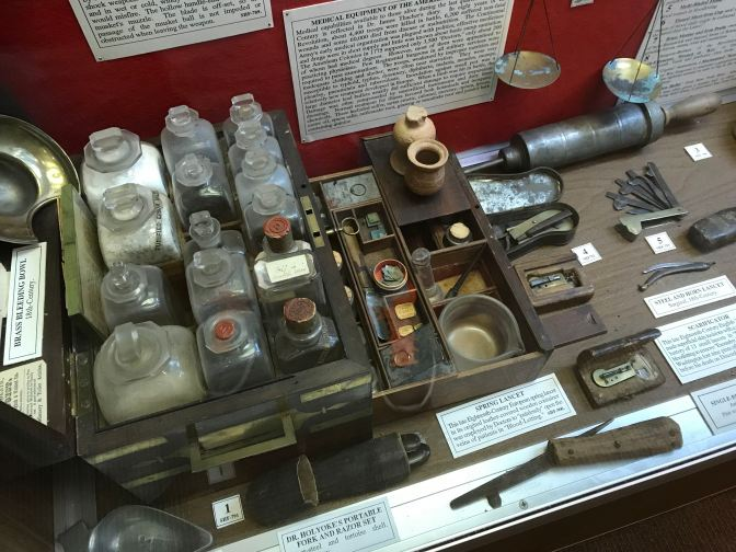 Revolutionary War era field medical kit.