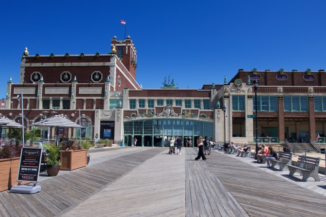 View of Convention Hall from the boardwalk.