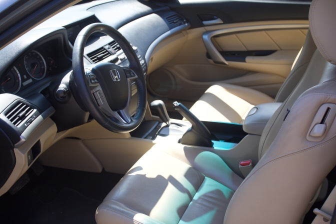 Interior of 2012 Honda Accord.