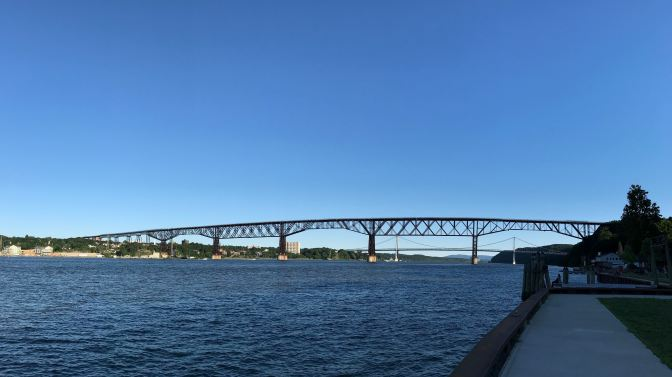Panoramic view of the Walkway Over the Hudson