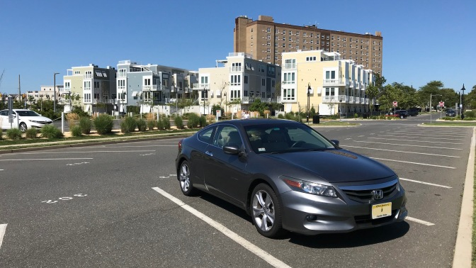 2012 Honda Accord in front of condominiums in Asbury Park.