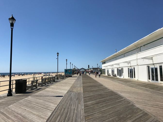 View of the Asbury Park Boardwalk, looking south.