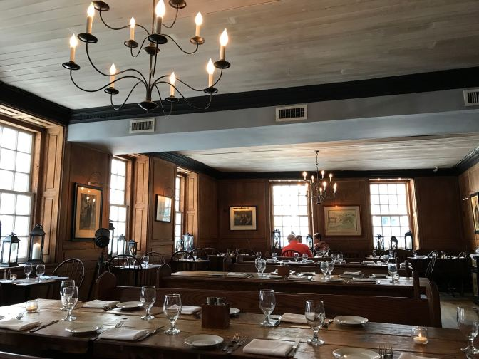 Interior of Fraunces Tavern.