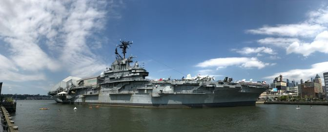 Panorama of the USS Intrepid.