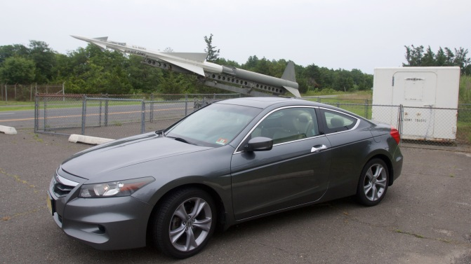 Ajax missile behind 2012 Honda Accord.