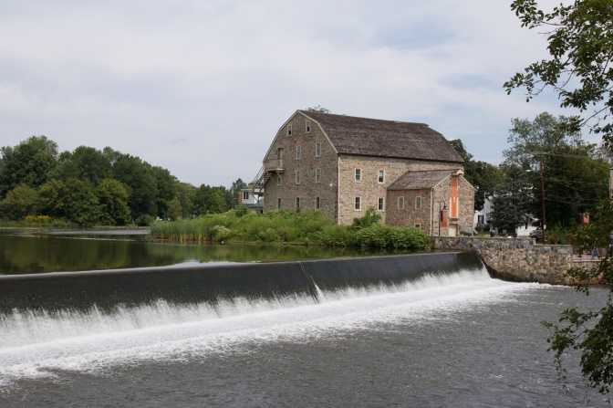 View of the Stone Mill. The Raritan River is in the foreground.