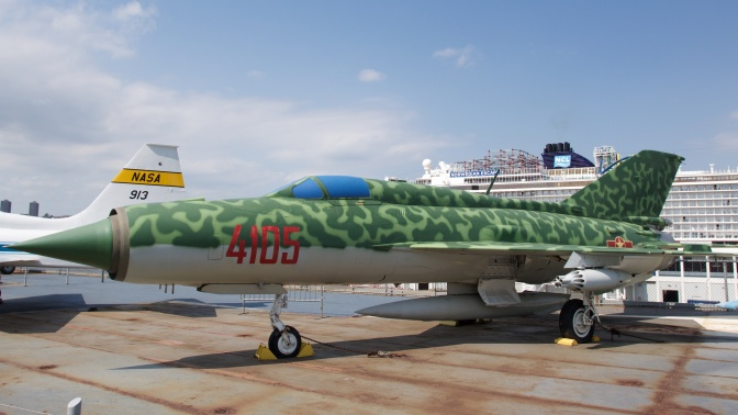 MiG-21 fighter jet.