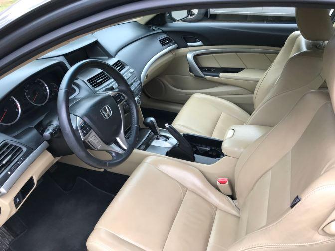 Interior of 2012 Honda Accord coupe.