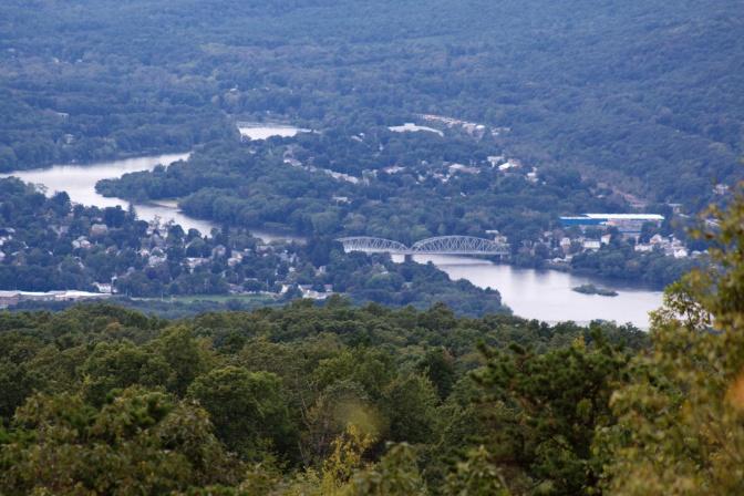 Delaware River and Matamoras, Pennsylvania.
