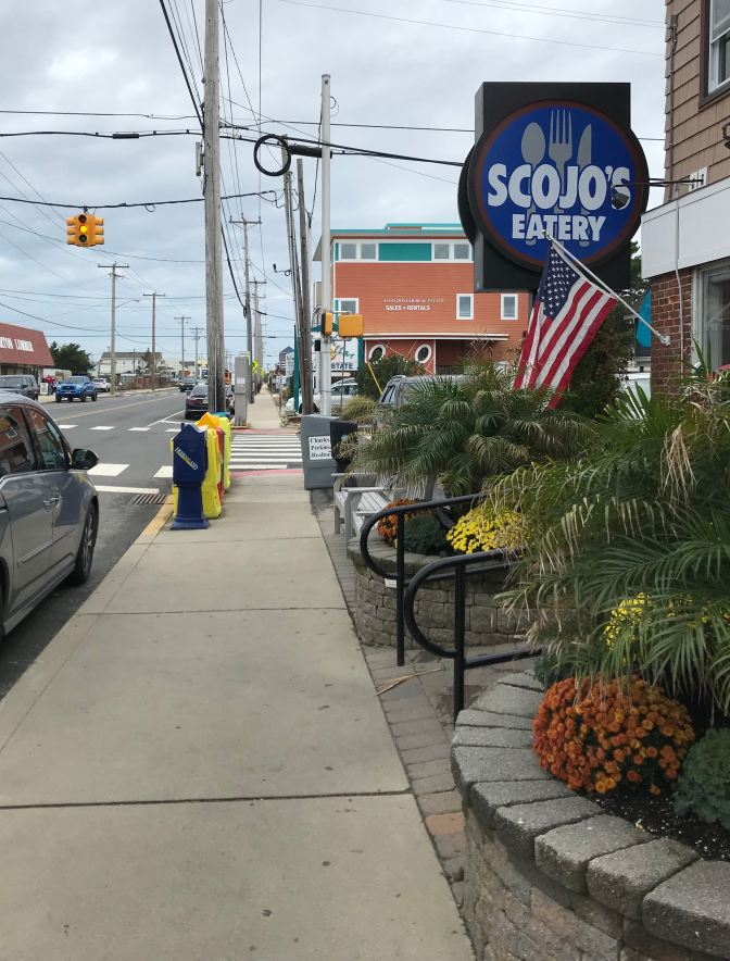 Exterior of Scojo's Eatery in Surf City, NJ.