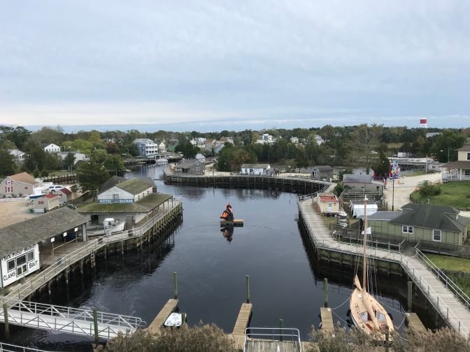 View of Tuckerton Seaport from the top of the lighthouse.