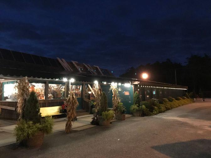 Exterior of Menz restaurant.