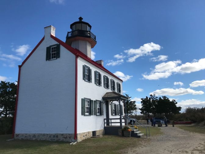 Exterior of East Point Lighthouse.