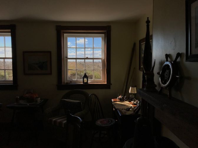 Interior of East Point Lighthouse museum.