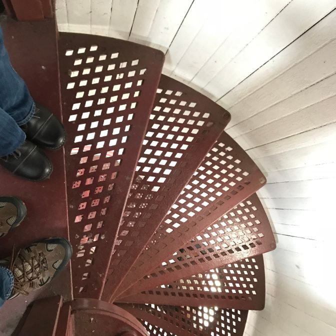 Open stairs of Finns Lighthouse.