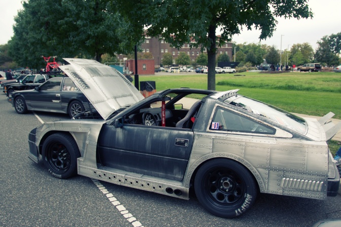 Nissan Z with bare metal bodywork.