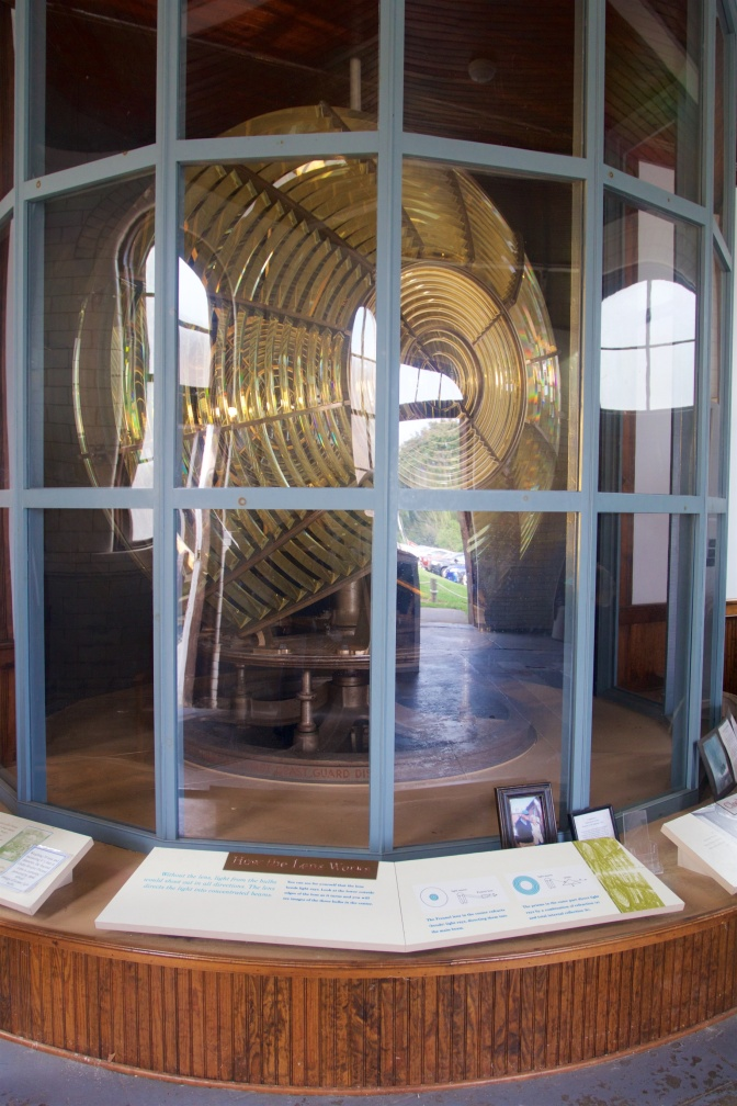 Large fresnel lens from South Tower light in Navesink.