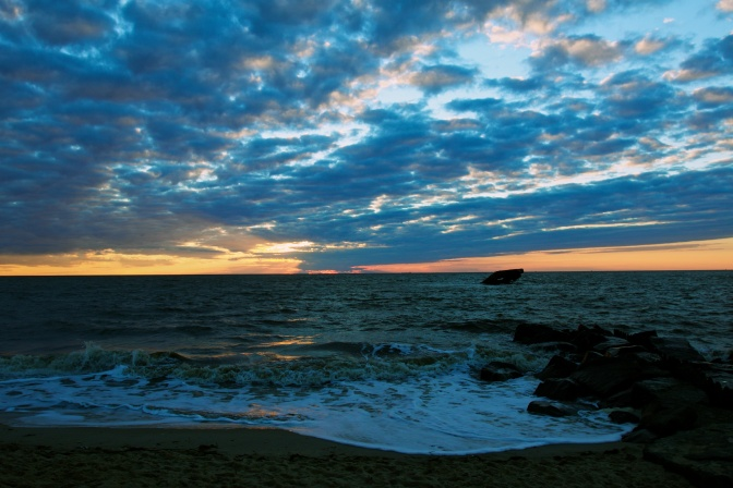 Sunset at Sunset Beach in Cape May, NJ.