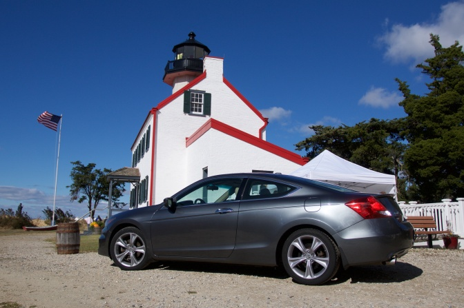2012 Honda Accord in front of East Point Lighthouse.